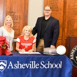 Asheville School's Gabrielle Rancourt will play her college volleyball for Muhlenberg (Pa.).