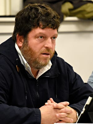 Public comment regarding board member Matt Jansen during the Spring Grove school board meeting at the Educational Service Center in Spring Grove, Monday, March 6, 2017. Dawn J. Sagert photo