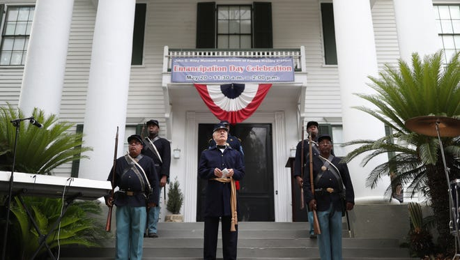 Emancipation Proclamation celebration at the Knott House Museum in downtown Tallahassee on May 20, 2018. On that date in 1865, a union general announced Abraham Lincoln's order ending slavery from these steps.