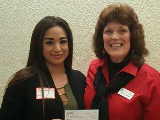 Pictured are Lizet Martinez, left, with LYD Award Chair, Dr. Esther Devall.