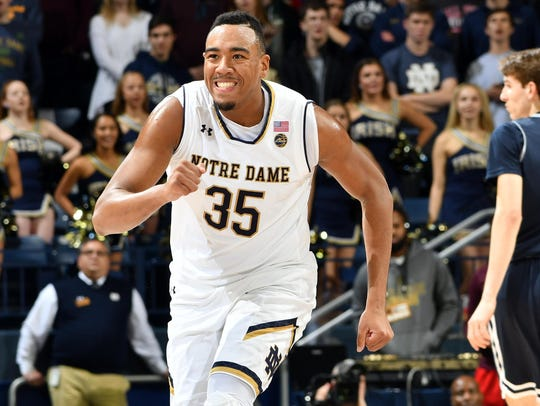 Notre Dame is led by senior forward Bonzie Colson.