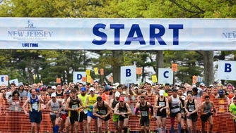 Runners take off at the start of 2016 New Jersey Marathon. The event returns to the Jersey Shore this weekend