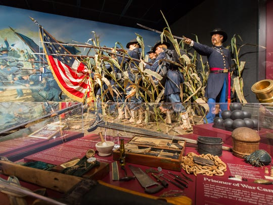 Some of the Civil War-related items at the Wisconsin Veterans Museum in Madison.