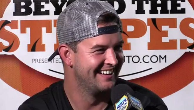 AJ McCarron joined the Enquirer Sports team for the preseason edition of Beyond The Stripes on Tuesday at Moerlein Lager House.