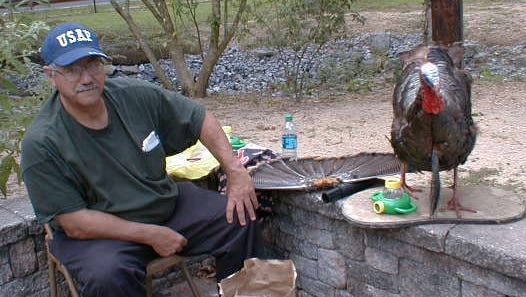 """Sam Pace presents """"Turkey Talk"""" at last year's September Fun Day at Cohanzick Zoo in Bridgeton. Pace is the recipient of the Master Gardener of the Year Award for 2015 in Cumberland County."""