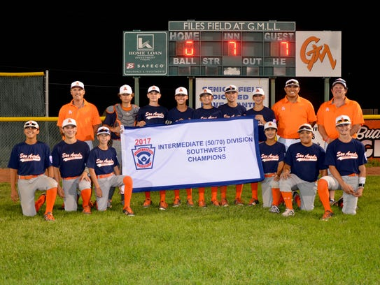 San Angelo Western Little League's intermediate baseball team won the Southwest Regional Tournament title with a 7-0 win over a team from Houston to advance to the World Series.