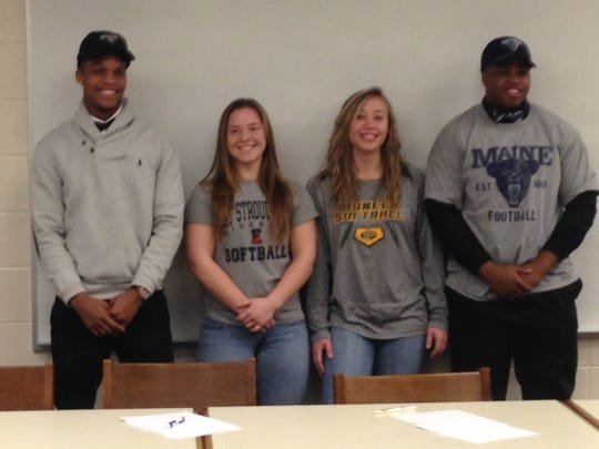 From left to right: Isaiah Ross going to Towson University