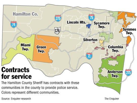 The Hamilton County Sheriff's Office's police-service