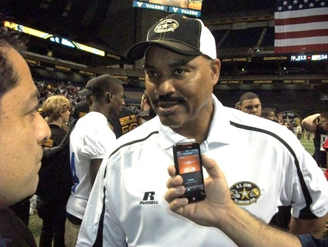 Sam Houston football coach Gary Green, who is retiring at the end of the school year, coached in the U.S. Army All-American Bowl in 2012.