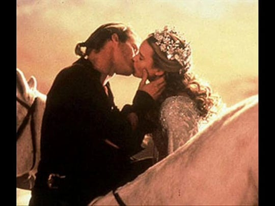 """You didn't tell me this was a kissing book!'' Westley and Princess Buttercup reunited at last."