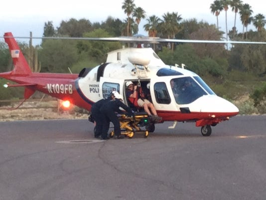 Injured hiker rescued from Camelback Mountain on Thursday, May 7, 2015