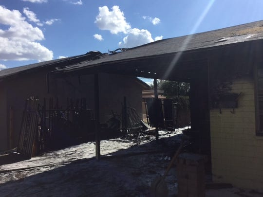 A family of three and their two dogs were displaced by a house fire in Phoenix on Saturday, May 16, 2015, officials said.
