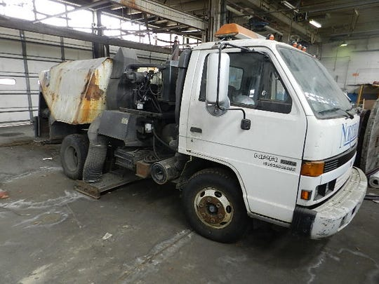 Street sweeper in Northland Center auction