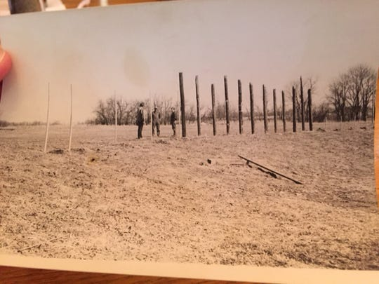 Luebbers' farm in Union recreated Crosley Field in the 1970s. Here is an early photo of the field under construction.
