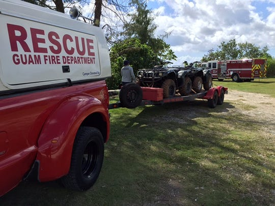 Emergency personnel search for a 51-year-old man who was reported missing this afternoon. Two rescue boats – GFD Rescue 2 out of Sinjana and GFD Rescue 3 out of Agat -- have been deployed to search the area where the man was last seen.