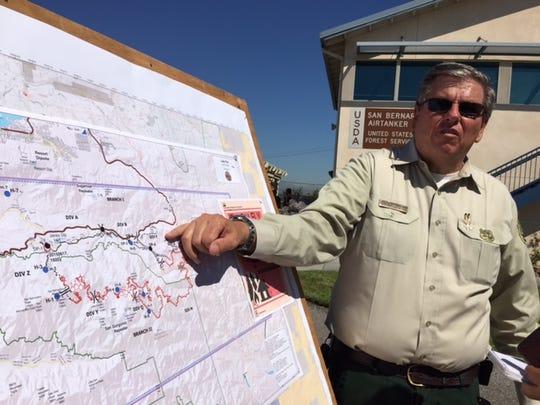 U.S. Forest Service spokesman John Miler at the San Bernardino National Forest Airtaner Base, Thursday, June 25, 2015.