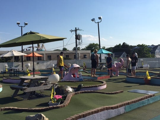 Retro fun is part of the charm at Ryan's Rooftop Mini-Golf in Rehoboth.