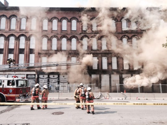 Fire at Whiskey Row
