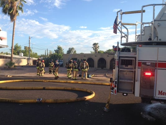 House fire in Mesa on Saturday, July 25, 2015