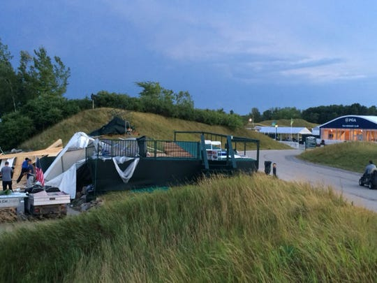Aug. 14's storm at the PGA Championship destroyed the