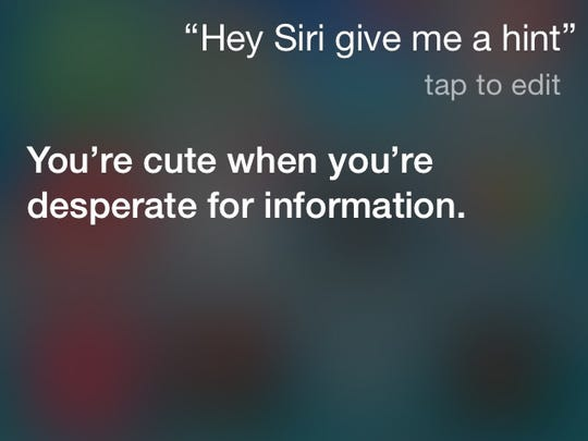 I think we're warming up to Siri, everyone.