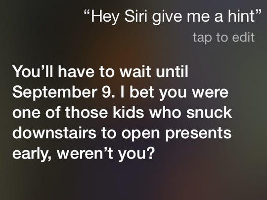 Siri unloads the snark with this response to next month's