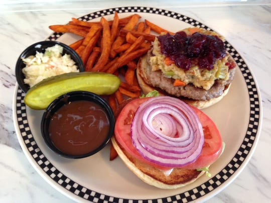 The Broad Street Diner Thanksgiving turkey burger.