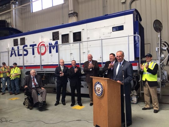 Last September, U.S. Sen. Charles Schumer, D-N.Y., was at the Alstom plant in Hornell to announce a $2.5 billion contract from Amtrak for Alstom to build the next generation of high-speed Acela trains.
