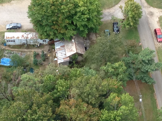 Authorities raided a marijuana growing site on 5094 Township Road 495 on Tuesday in Perry County.