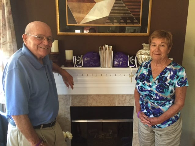 Ken and Judy Haupt at their home in Greenwood