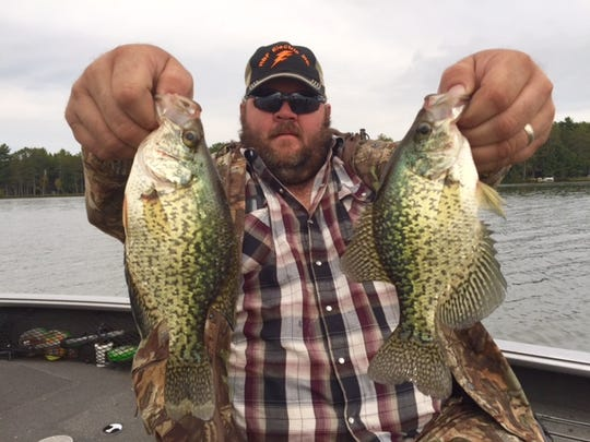 Jeremiah Andrews with some nice Hayward area crappies