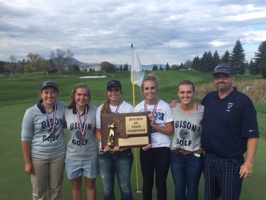 Bison girls' golfers