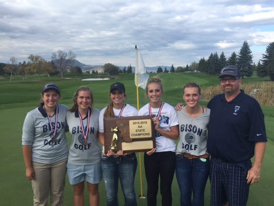 Bison girls' golfers