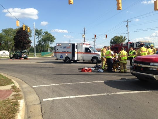 Scene of serious crash at Helmer and Columbia on Wednesday afternoon.