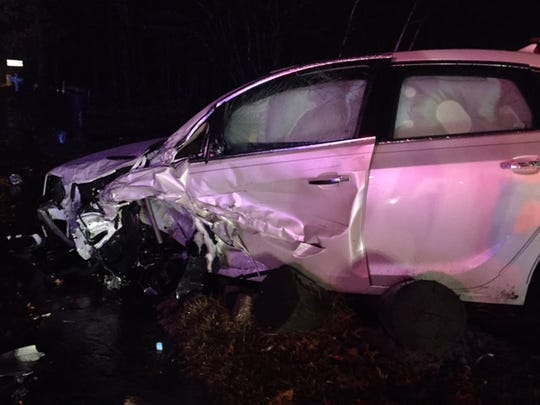 Two cars collided head on in Brick Tuesday evening