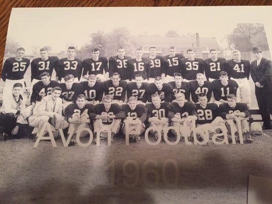 The 1960 Avon football team, the school's first.