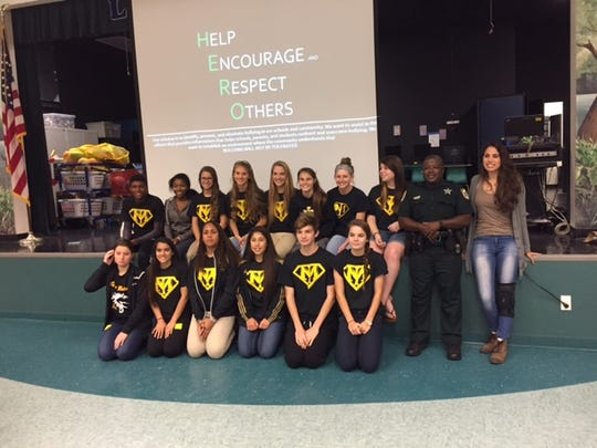 The HERO Club spoke to students at Lewis Carroll Elementary on Tuesday morning.