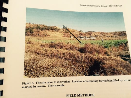 The army's report on Sgt. Dean Dee Chaney includes a picture of the farmer's field in North Korea where his remains likely were found.