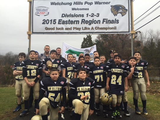 St. Cecilia's Golden Knights Pee Wee football team from Woodbridge played for the Eastern Regional Championship on Saturday, the first time any St. Cecilia's team has made it that far.