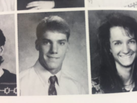 Rutgers football coach Chris Ash's 1992 yearbook photo at Ottumwa High School.