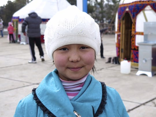 Mairam, one of Seifert's young friends in Kyrgyzstan.