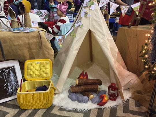 Bethany Butler's teepee on display at the Salem Etsy Team Holiday Craft Fair on Saturday, Dec. 12 in Salem, Ore.