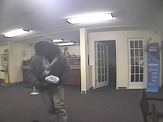 Police say this man robbed a bank Friday.