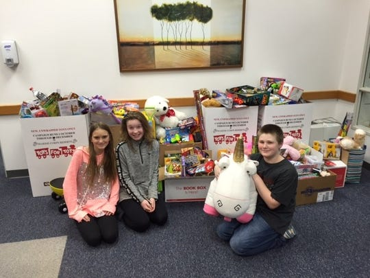 D.C. Everest Middle School reported record participation this year in its Toys for Tots drive.