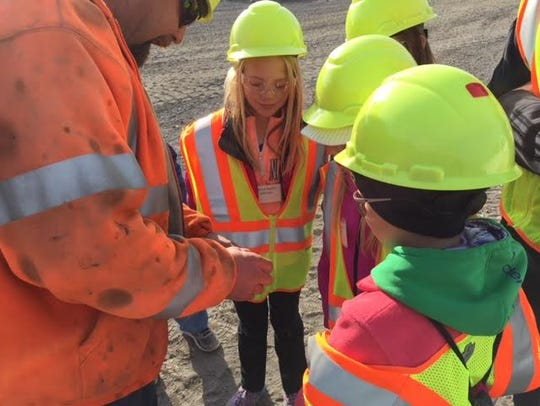 A group of fifth-graders visit 3M during Mentor Morning