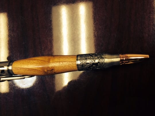 A pen made by Al Daul given to Korey Schillinger who