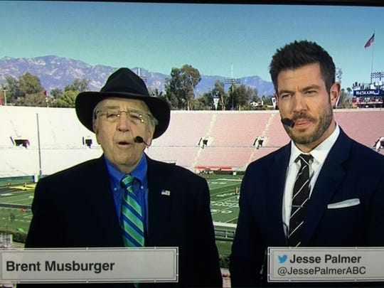 Brent Musburger and Jesse Palmer will be calling the Rose Bowl on Friday for ESPN.