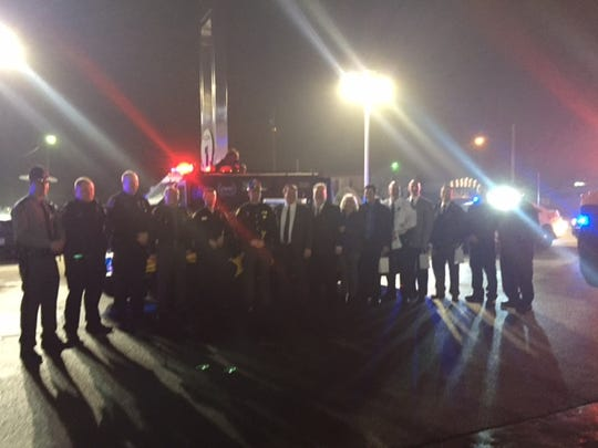 "Members of Richland County safety forces along with public officials and others joined together for the ""Spread the Light"" kickoff Saturday night."