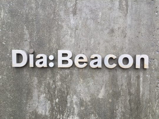 The sign on the exterior of Dia Beacon, the contemporary art museum in Beacon.