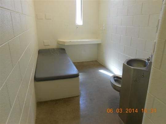 """Waupun Correctional Institution inmates may have spent extra weeks or months in a cell like this because Waupun officials failed for at least two and a half months to notify them of dramatically shorter sentences in solitary confinement for infractions. Under the new policy that took effect June 1, inmates and officers are encouraged to """"negotiate"""" terms in solitary. But Waupun inmates last year were at a disadvantage: They said were not notified that the maximum sentence for individual infractions had been reduced from 360 days to 90 days."""